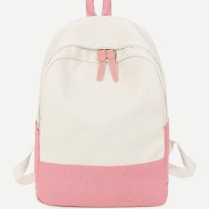 New pink offwhite backpack